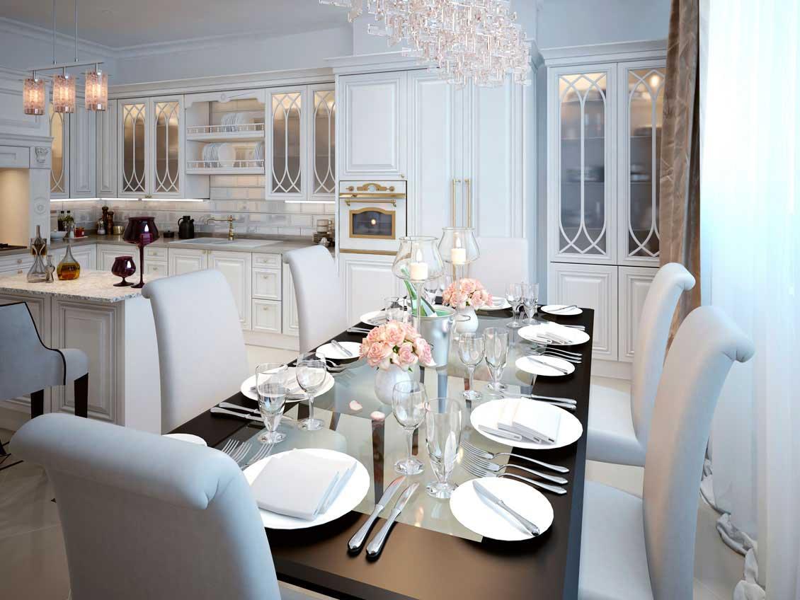 Eleganckie meble kuchenne białe